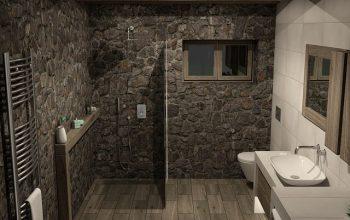 Drewno i beton, czyli łazienka w nowoczesnym wydaniu!